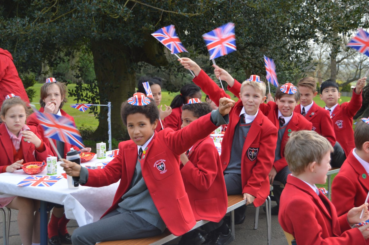 Pupils Celebrate The Queen's Birthday