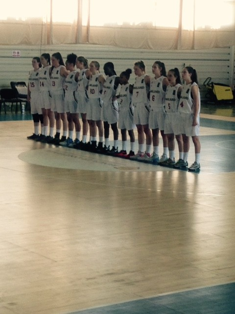 Holly Winterburn Captains the England U16s Women's Basketball Team