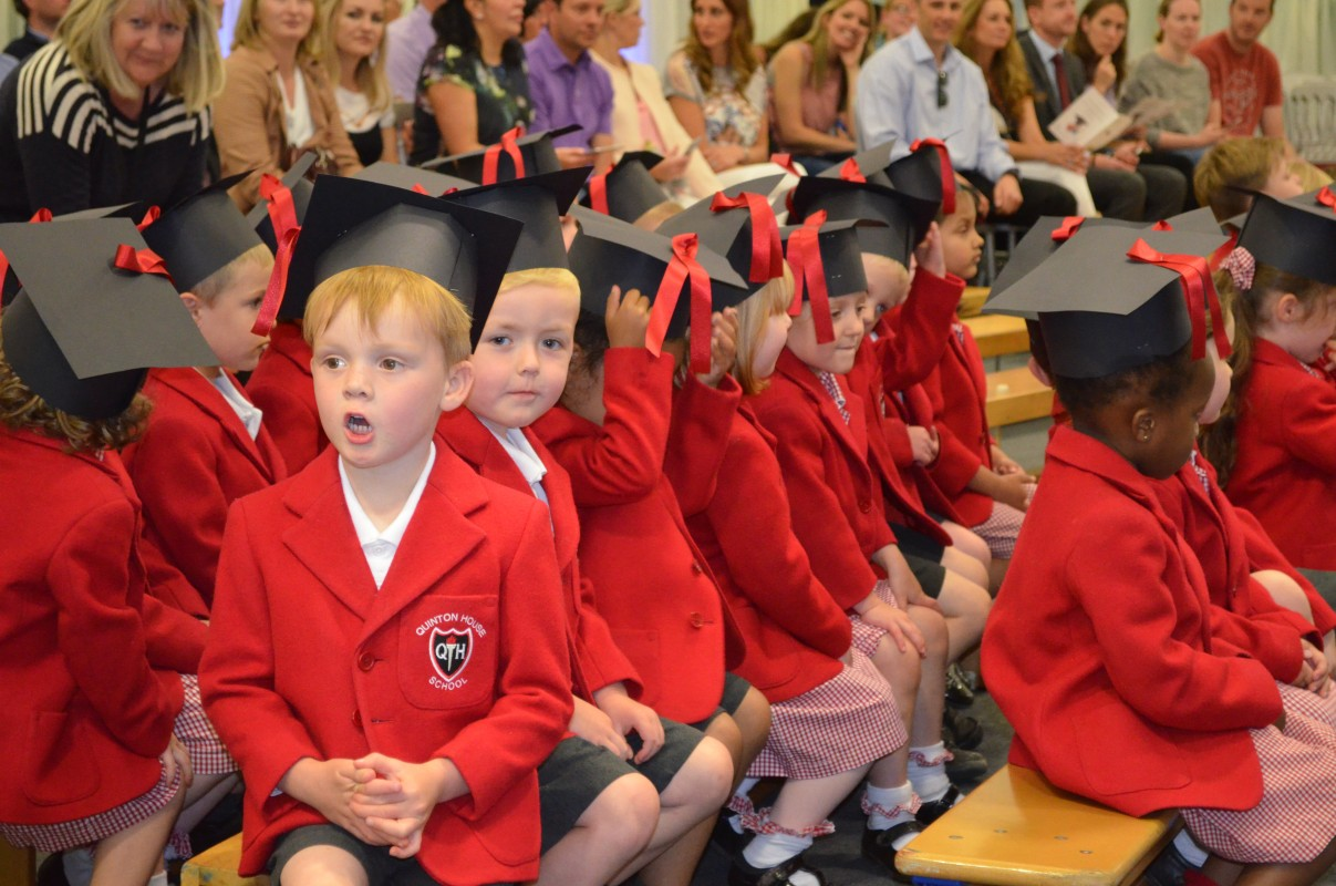 Nursery pupils graduate