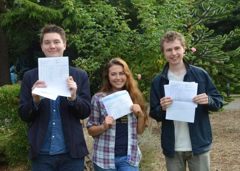 A Level Pupils Celebrate Exam Success 2016