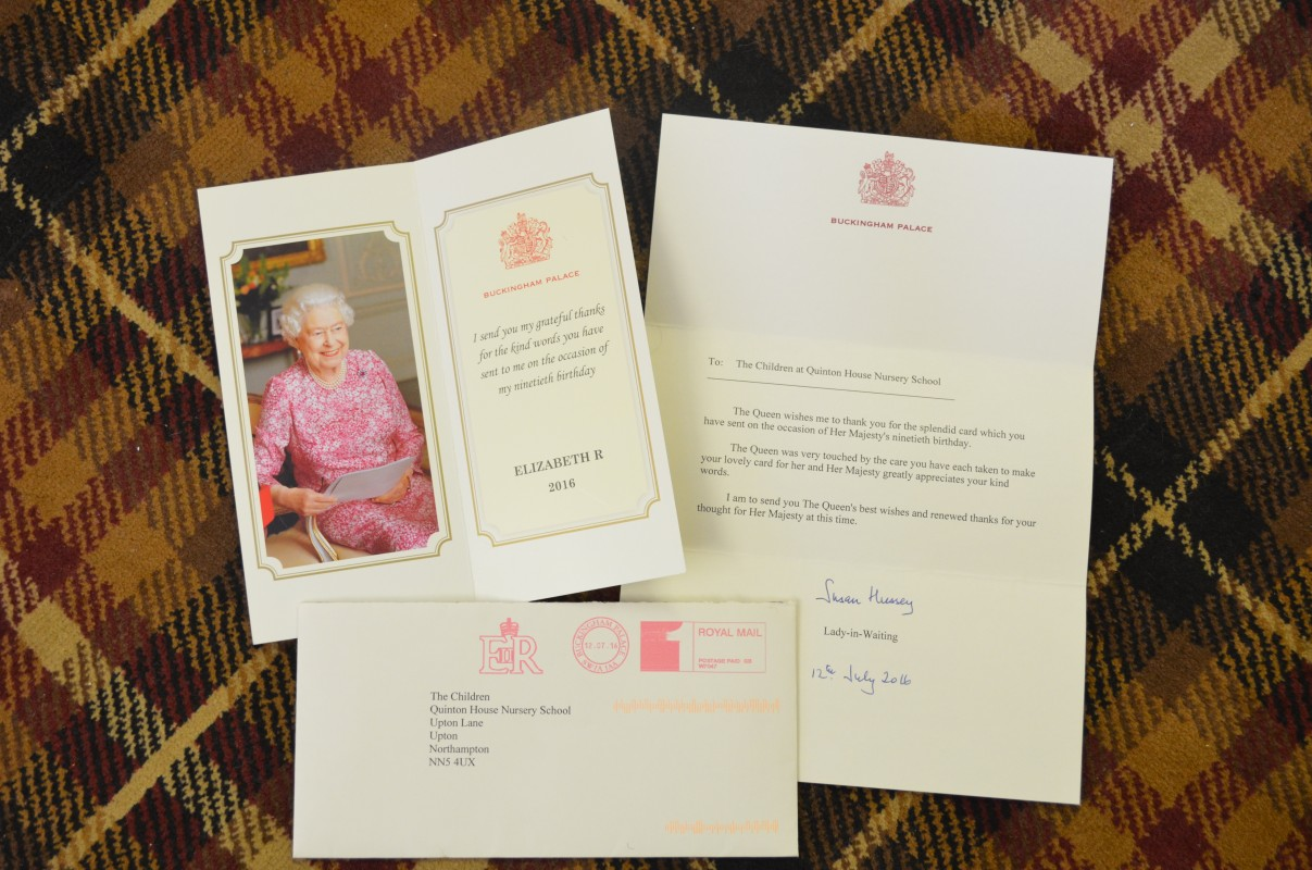 Queen's Letter to Nursery Pupils