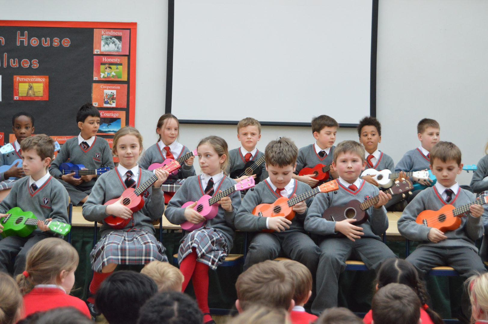QHS pupils enjoy playing the violin