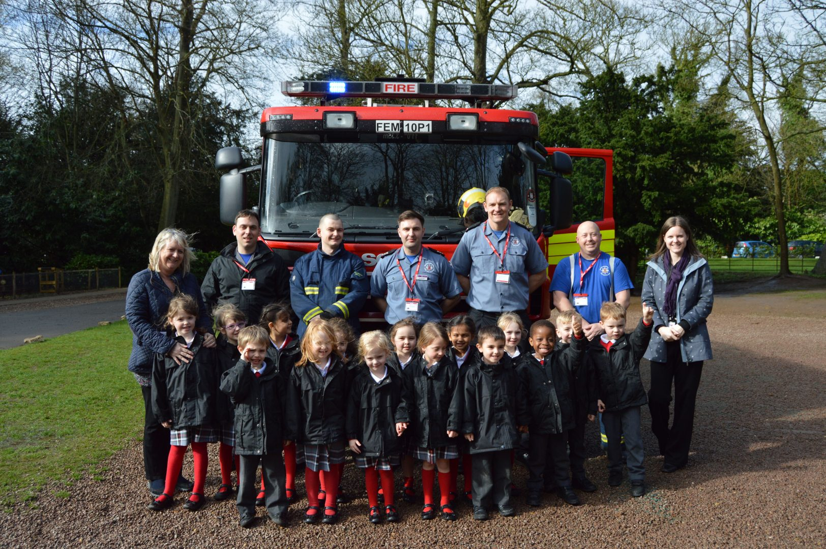 QHS pupils enjoy time with the fire brigade