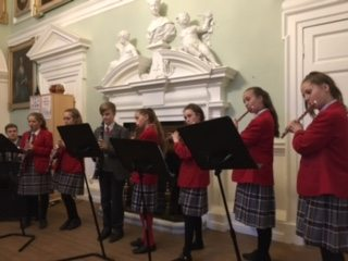 QHS pupils playing musical instruments