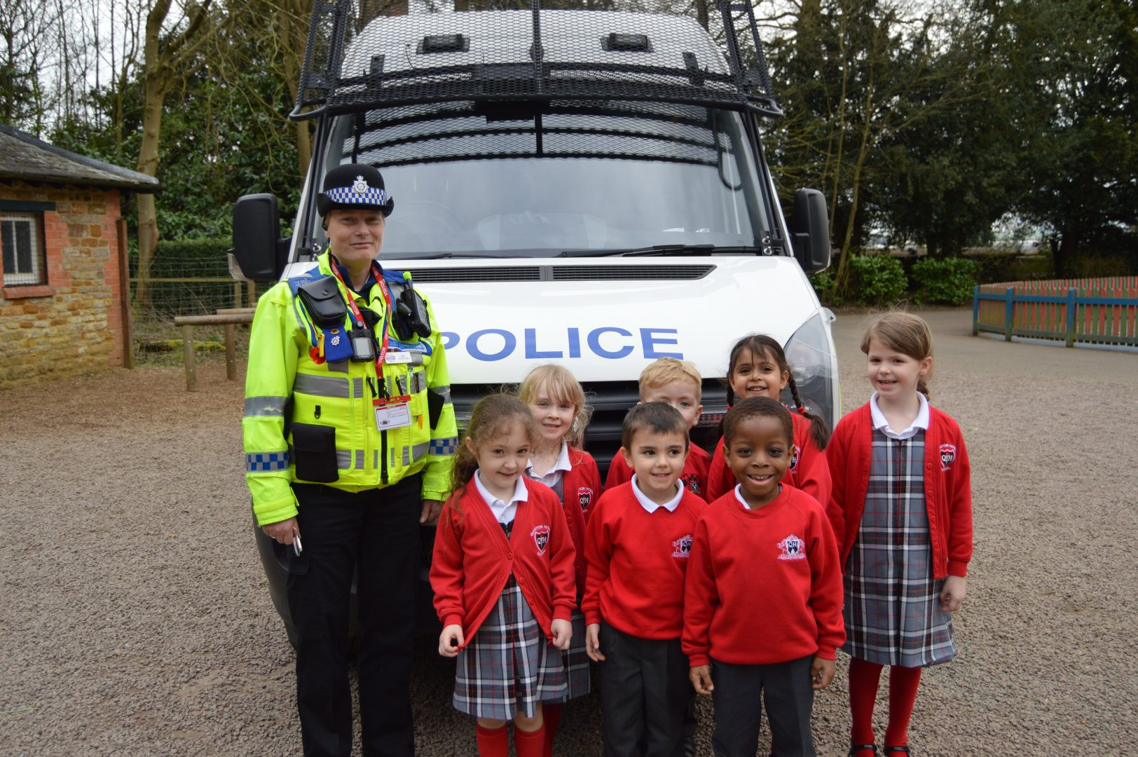 QHS Early Years pose with the Police