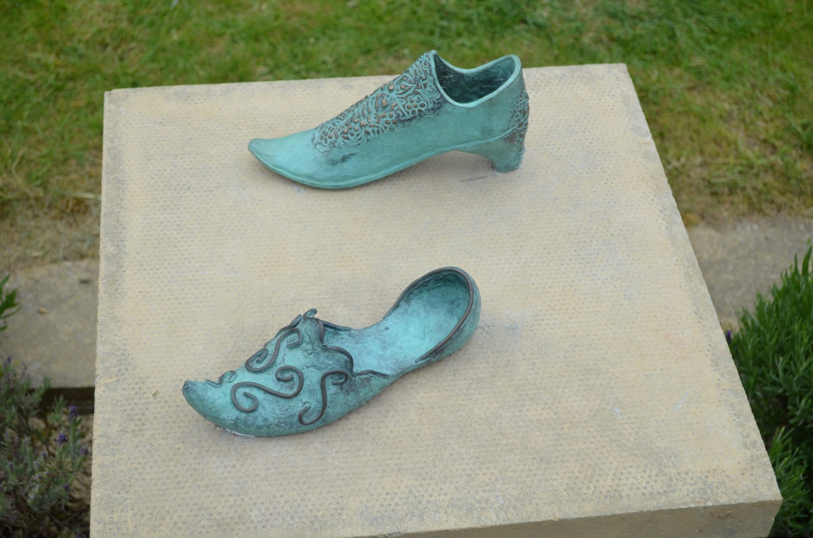 Bronze Shoes by QHS student