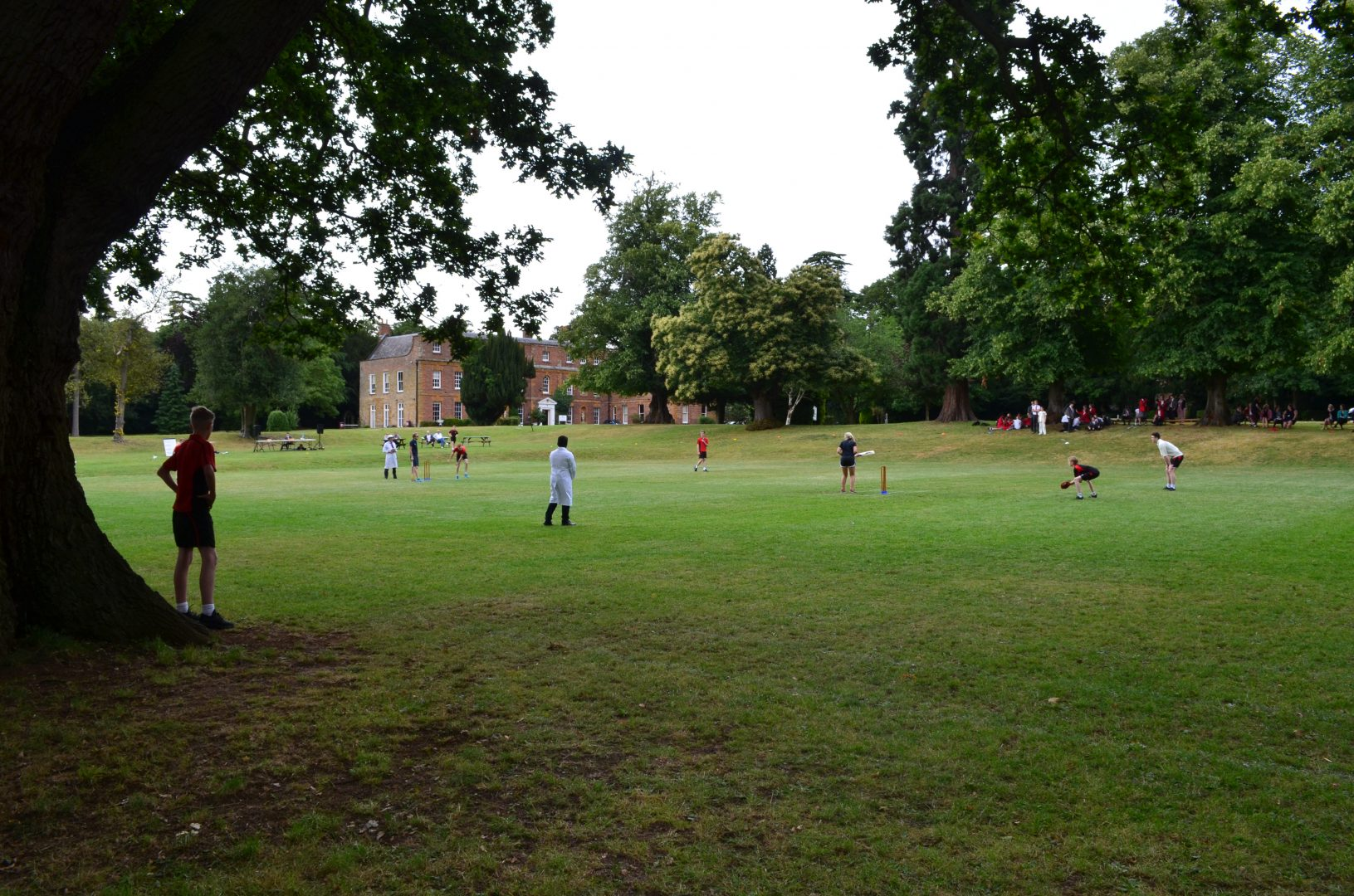 Staff vs Pupils Cricket match on QHS grounds