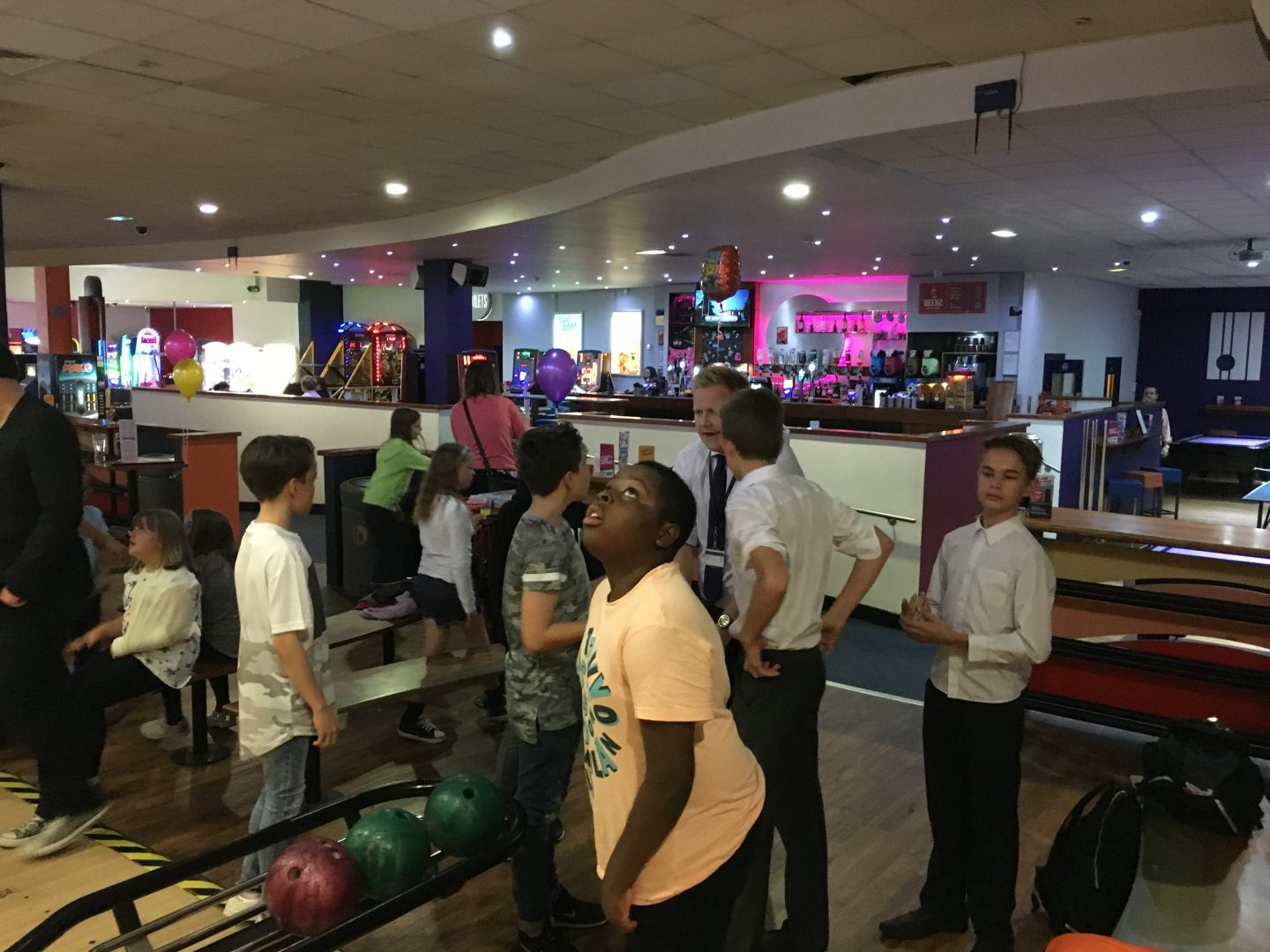 QHS pupils enjoy a night of bowling