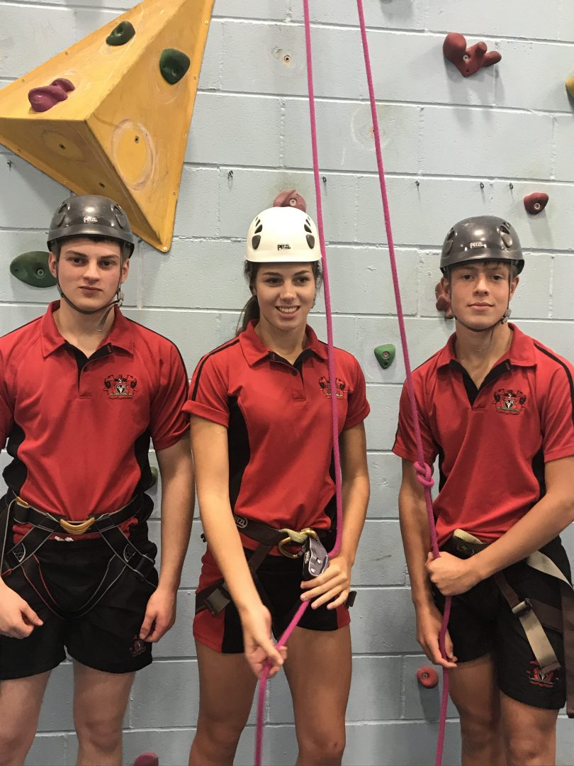 QHS pupils enjoy indoor rock climbing