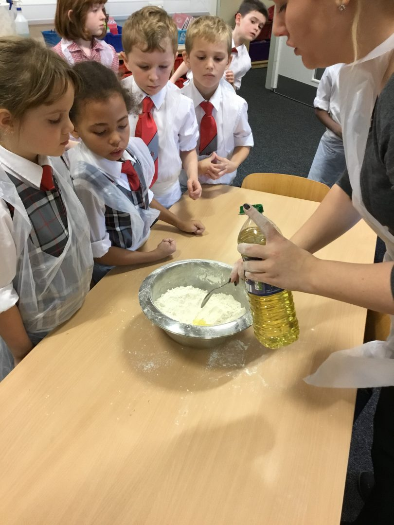 QHS pupils take part in a cooking lesson