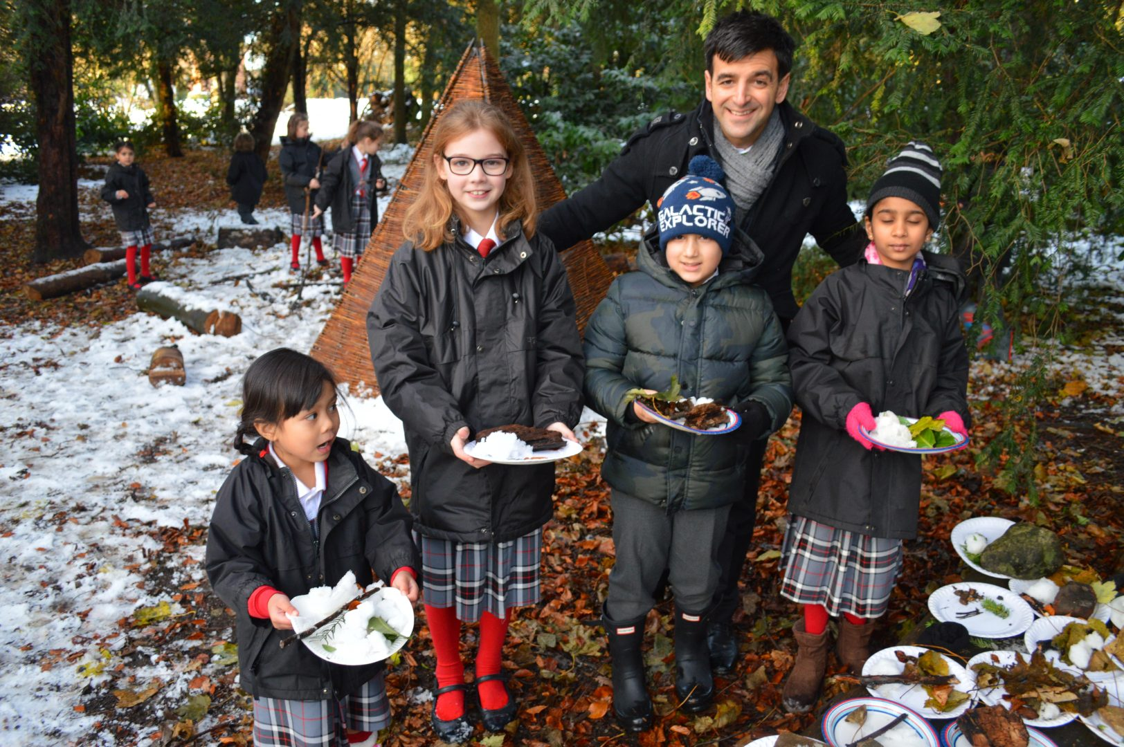 Pupils Enjoy Forest School in the Snow