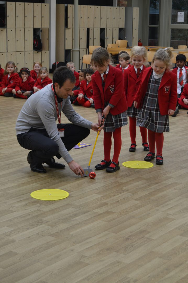 QHS pupils try curling