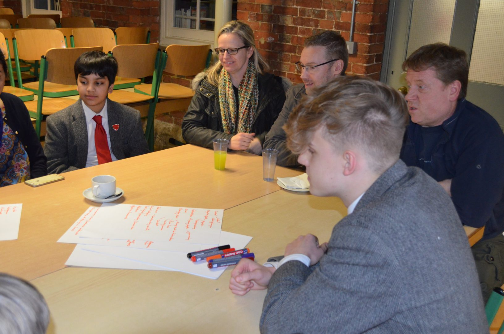 QHS pupils and parents engage at after class session