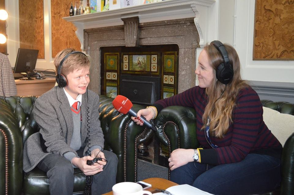 Senior pupil being interviewed in Headmaster's office