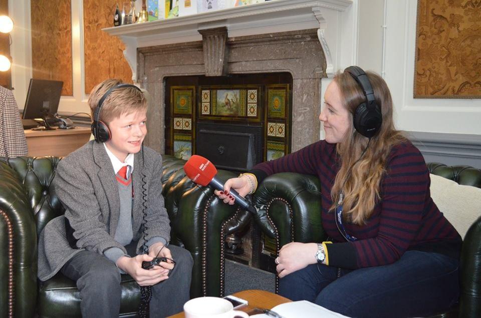 Senior pupil being interviewed in Headmaster's office
