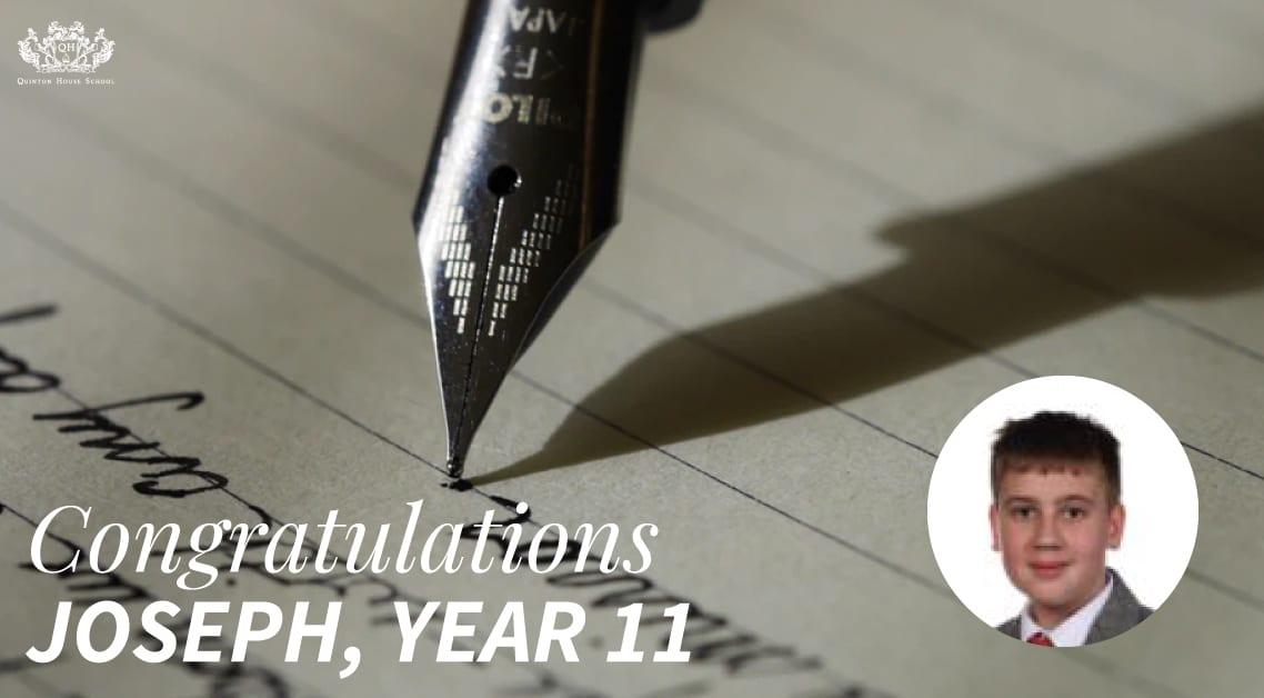 Congratulations Joseph
